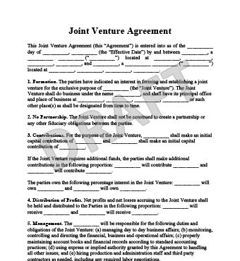 Create a Joint Venture Agreemnent | Legal Templates