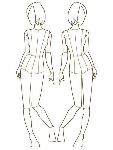072-front-view-female-croquis-preview | Sewing - Clothing ...