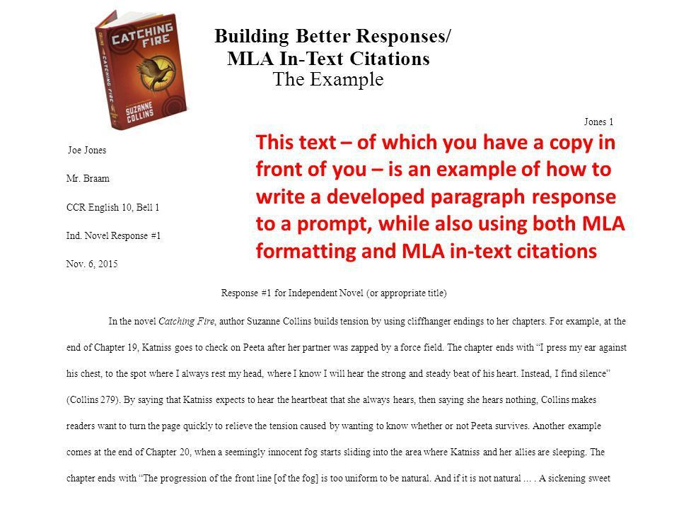 Building Better Responses/ MLA In-Text Citations The Example ...