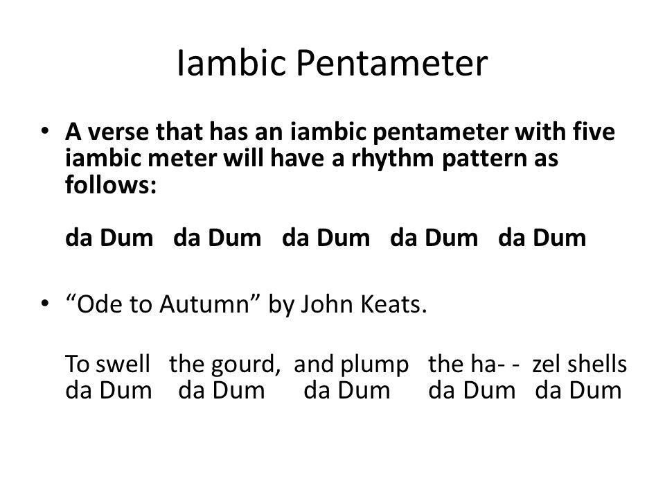 Iambic Pentameter Short and Sweet. - ppt download