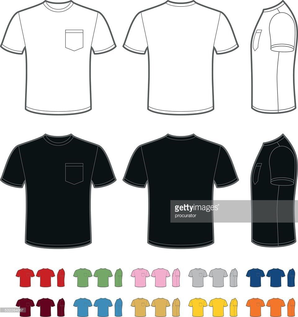 Mens Tshirt With Pocket Vector Art | Getty Images
