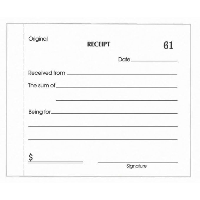 FormsReceipt Form. Free Receipt Template | Rent Receipt And Cash ...