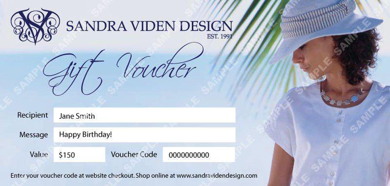 Gift Voucher | Sandra Viden Design
