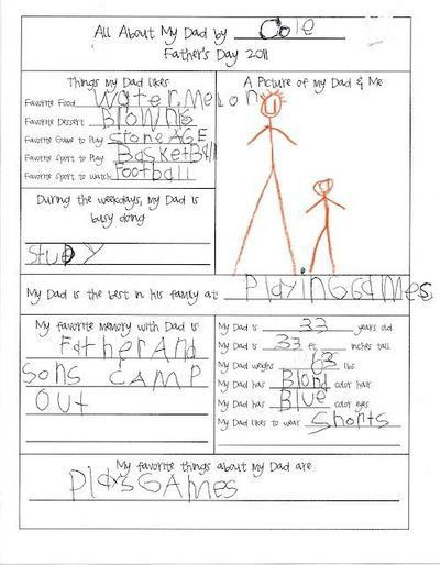father's day Questionnaire Survey Questions printable da ...