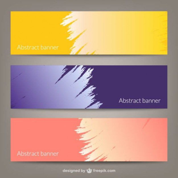 Abstract banner templates Vector | Free Download