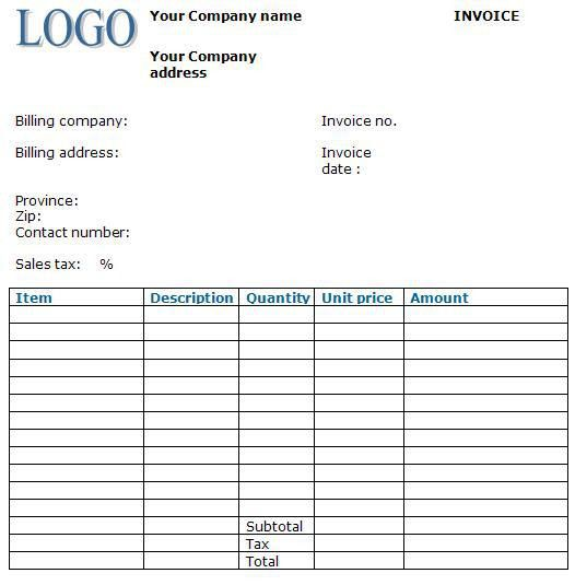 sample business invoice