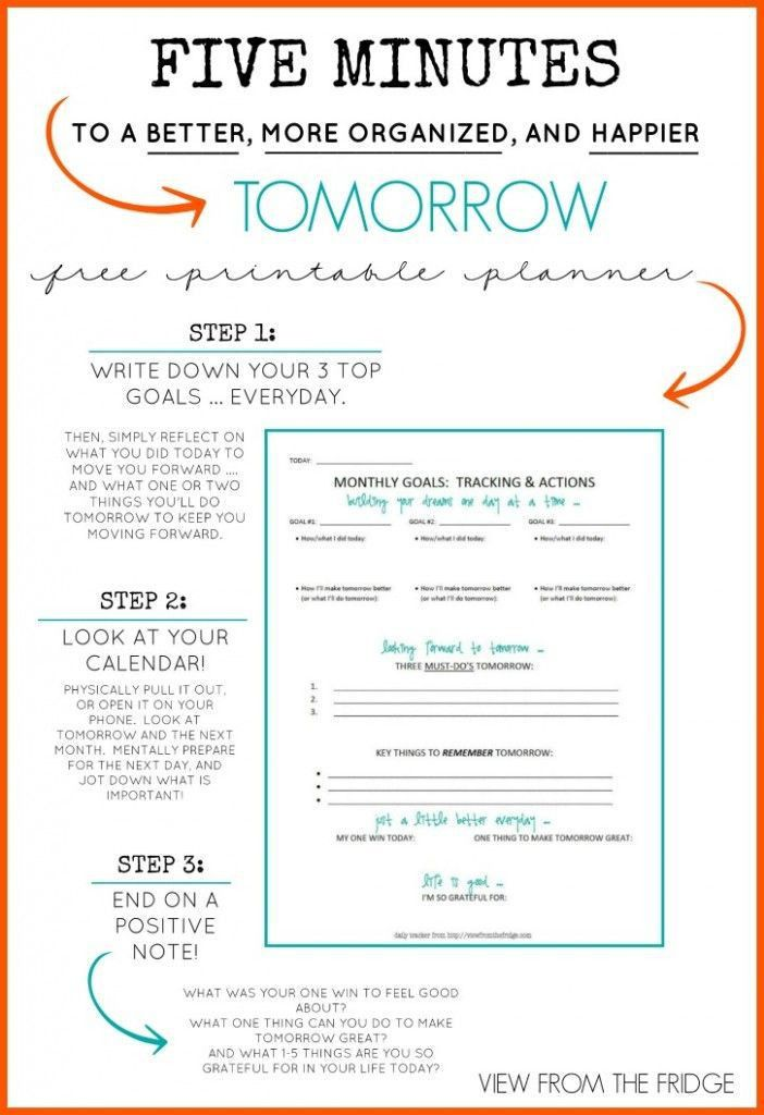 Best 25+ Daily planner printable ideas on Pinterest | Daily ...