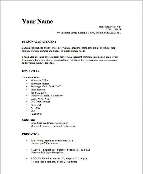 How To Write A Simple Resume Sample - Resume CV Cover Letter