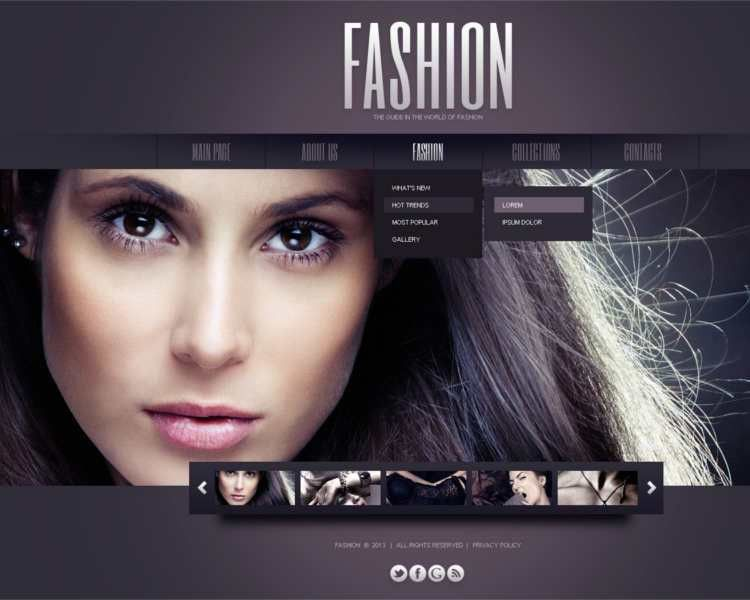 Fashion Designer Website Themes & Templates || Free & Premium ...