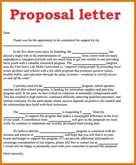 Proposal Letter Format.letter.png | Scope Of Work Template