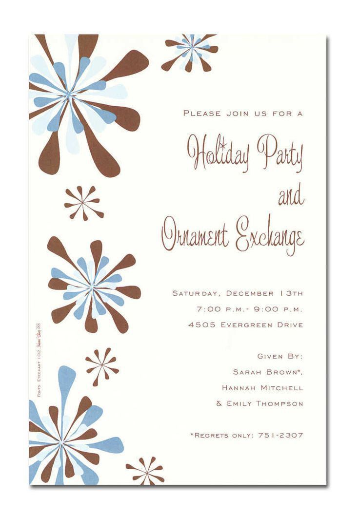 115 best Christmas Invitation Cards images on Pinterest ...