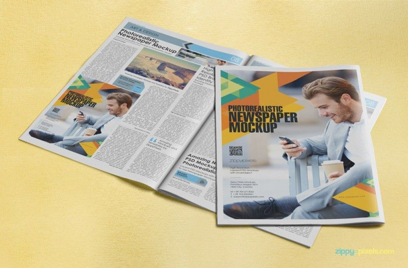 15 Beautiful Indoor Newspaper Advertising Mockups | ZippyPixels ...