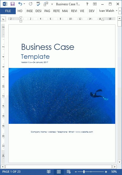 Sample Business Case Template - MS Word