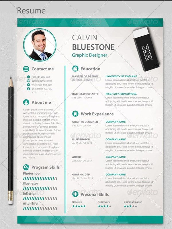 PSD Resume Template – 51+ Free Samples, Examples, Format Download ...