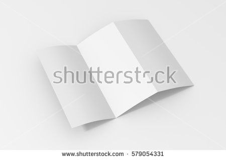 Vector White Paper Blank Brochure Template Stock Vector 608021471 ...