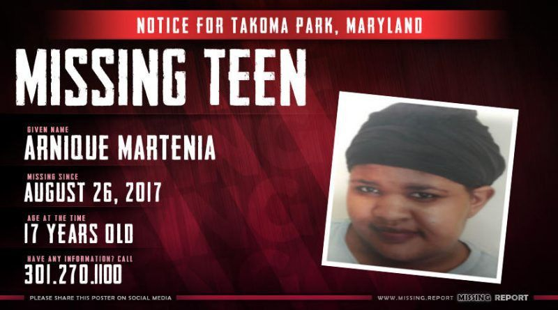 MISSING PERSON • Aysia Brown • Takoma Park, Maryland • 15 Years Old