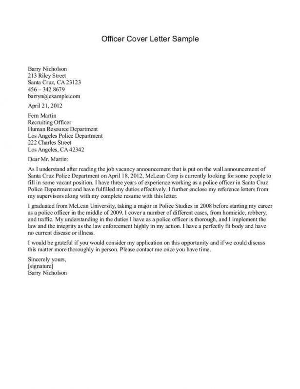 police officer cover letter examples best police officer cover