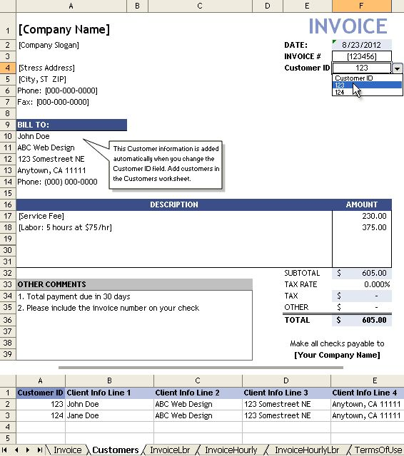 28+ Template For Invoice For Services | Free Service Invoice ...