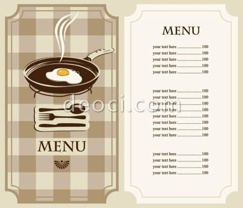 Sample Breakfast Menu Template. 13 Free Sample Lunch Menu ...
