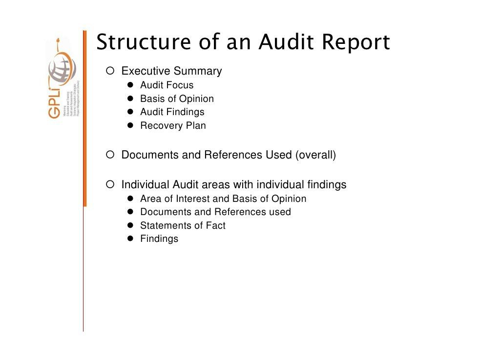 Audit Reports] 18 Internal Audit Report Templates Free Sample ...