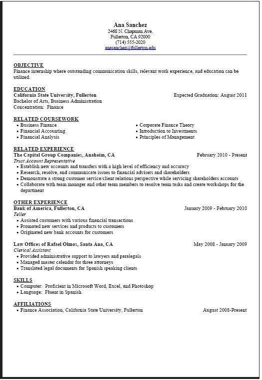 graduate student resume example. recent college graduate resume ...