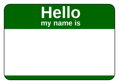 Name Tag Label Templates - Hello My Name is Templates