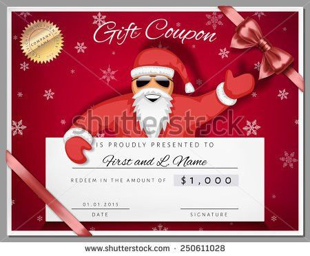 Santa Gift Certificate Template - Template Examples