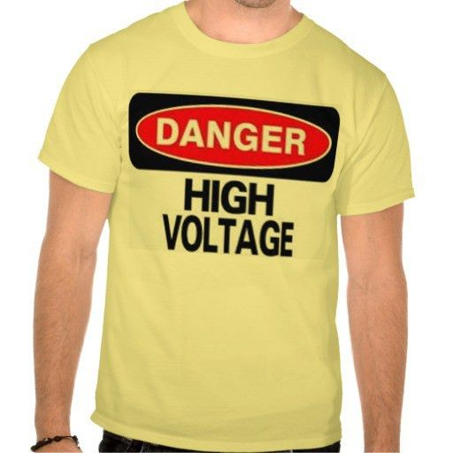 DANGER HIGH VOLTAGE Electrician T-Shirt ⋆ T-Shirt Kitty