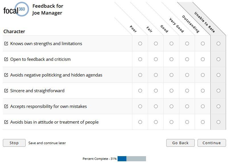 Sample 360 Degree Feedback Surveys