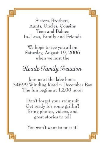 Family Reunion Invitation, Style fr-06