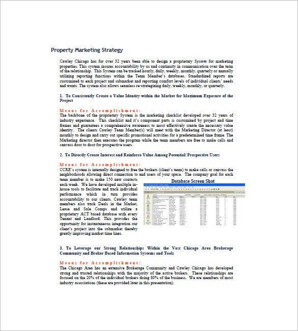 Real Estate Marketing Plan Template – 8+ Free Word, Excel, PDF ...