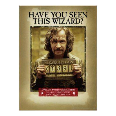 Sirius Black Wanted Poster Postcard | Zazzle.com