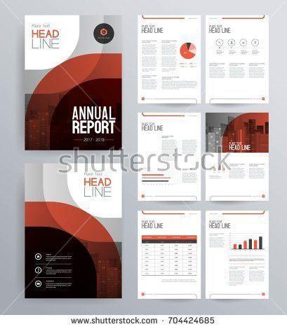 Template Design Company Profile Annual Report Stock Vector ...