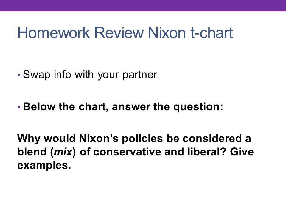 US HISTORY Unit 9 Week 3. Monday 4/28 Agenda Nixon T-chart ...