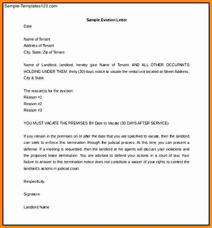 9+ 30 day eviction notice letter | driver-resume