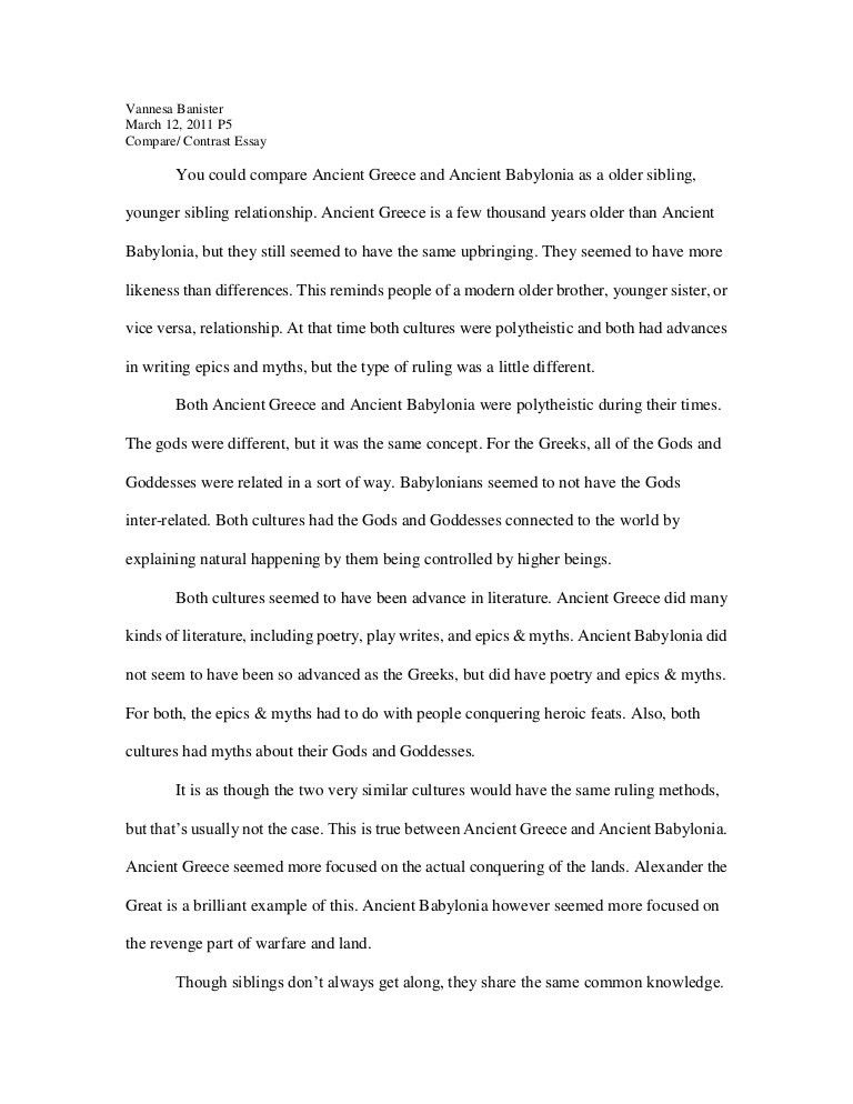 Compare contrast essay[1]