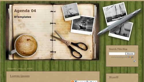 Agenda 04 Blogger template - BTemplates