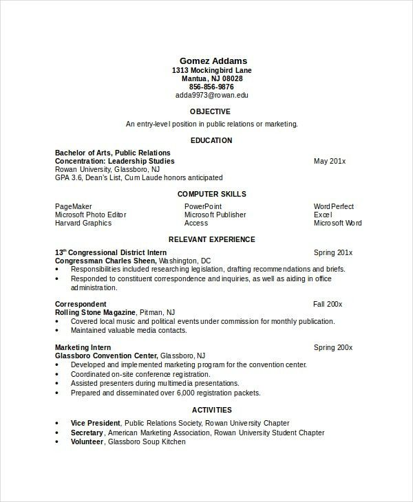7+ Engineering Resume Template - Free Word, PDF Document Downloads ...