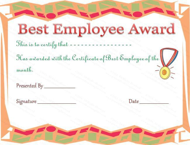 best employee certificate sample] employee award certificate, Modern powerpoint