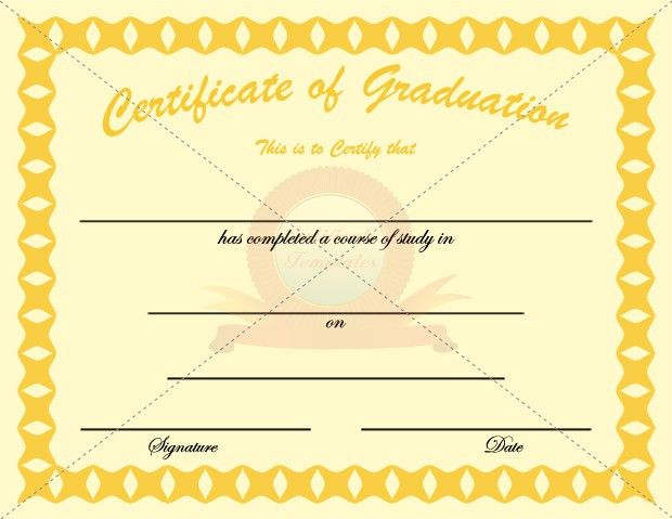 Graduation Certificate Golden Template | GRADUATION CERTIFICATE ...