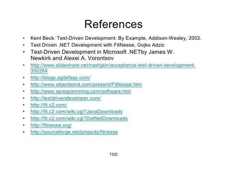 Overview on TDD (Test Driven Development) & ATDD (Acceptance Test Dri…