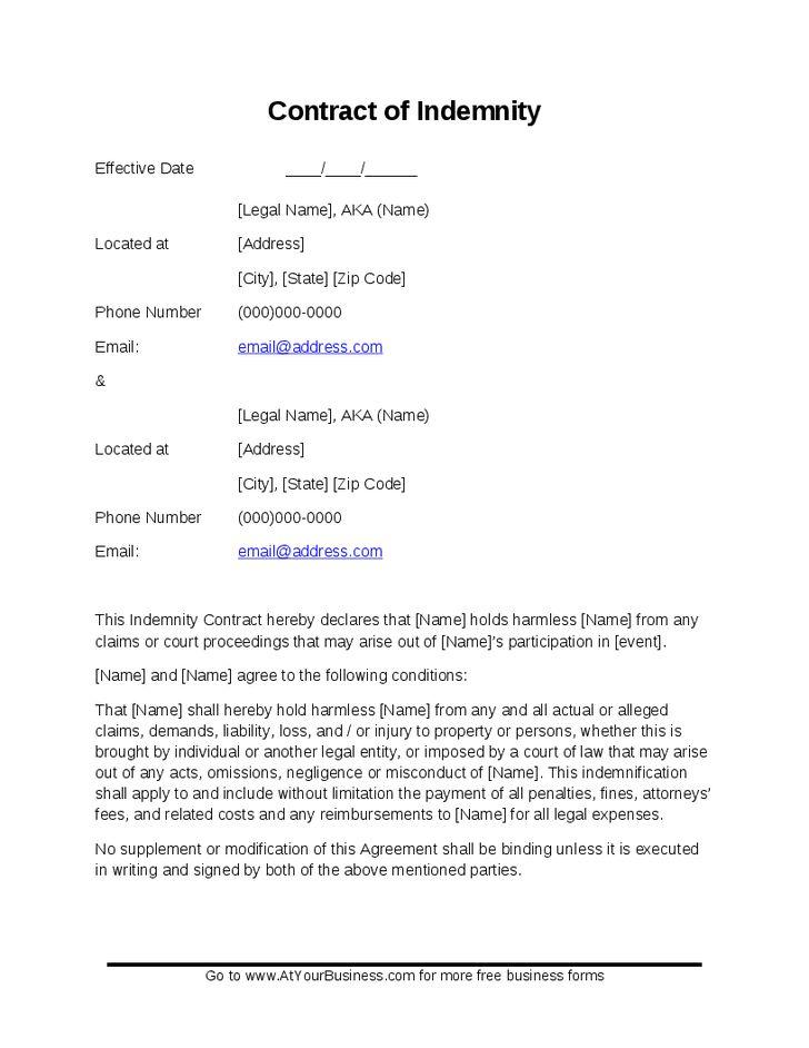 Indemnity Agreement - Hashdoc