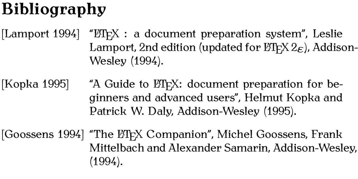 5.6 Creating a Bibliography