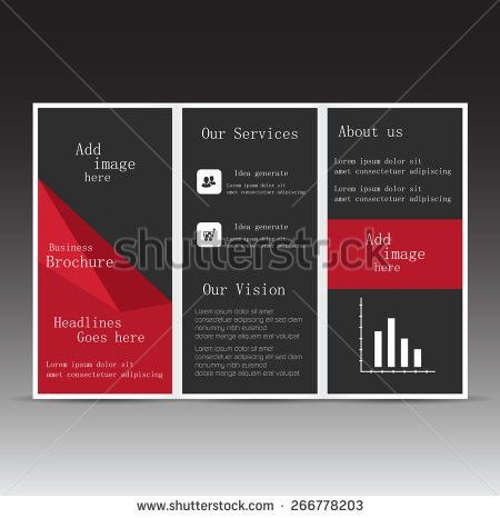 Professional Business Three Fold Flyer Template Stock Vector ...