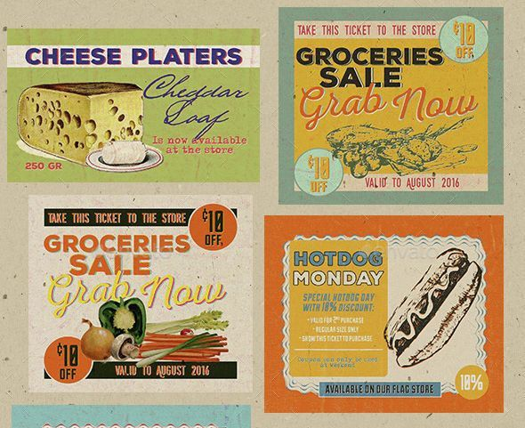 11+ Vintage Coupon Designs | Design Trends - Premium PSD, Vector ...
