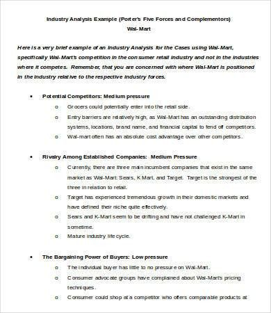 Industry Analysis Template - 5+ Free Sample, Example, Format ...