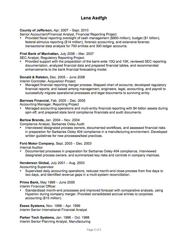 Resume Example for a Data Analyst - Susan Ireland Resumes