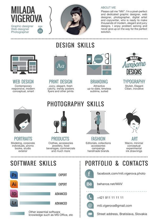 30+ Examples of Creative Graphic Design Resumes… | Resumes ...