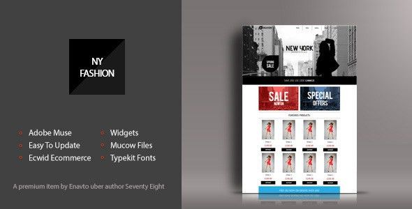 NY Fashion Shop Muse Template by SeventyEight | ThemeForest