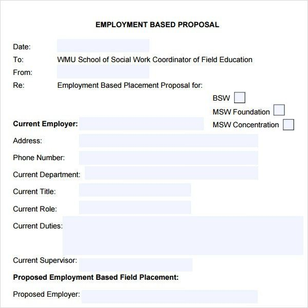 Sample Job Proposal Template - 6 Free Documents Download PDF, Doc